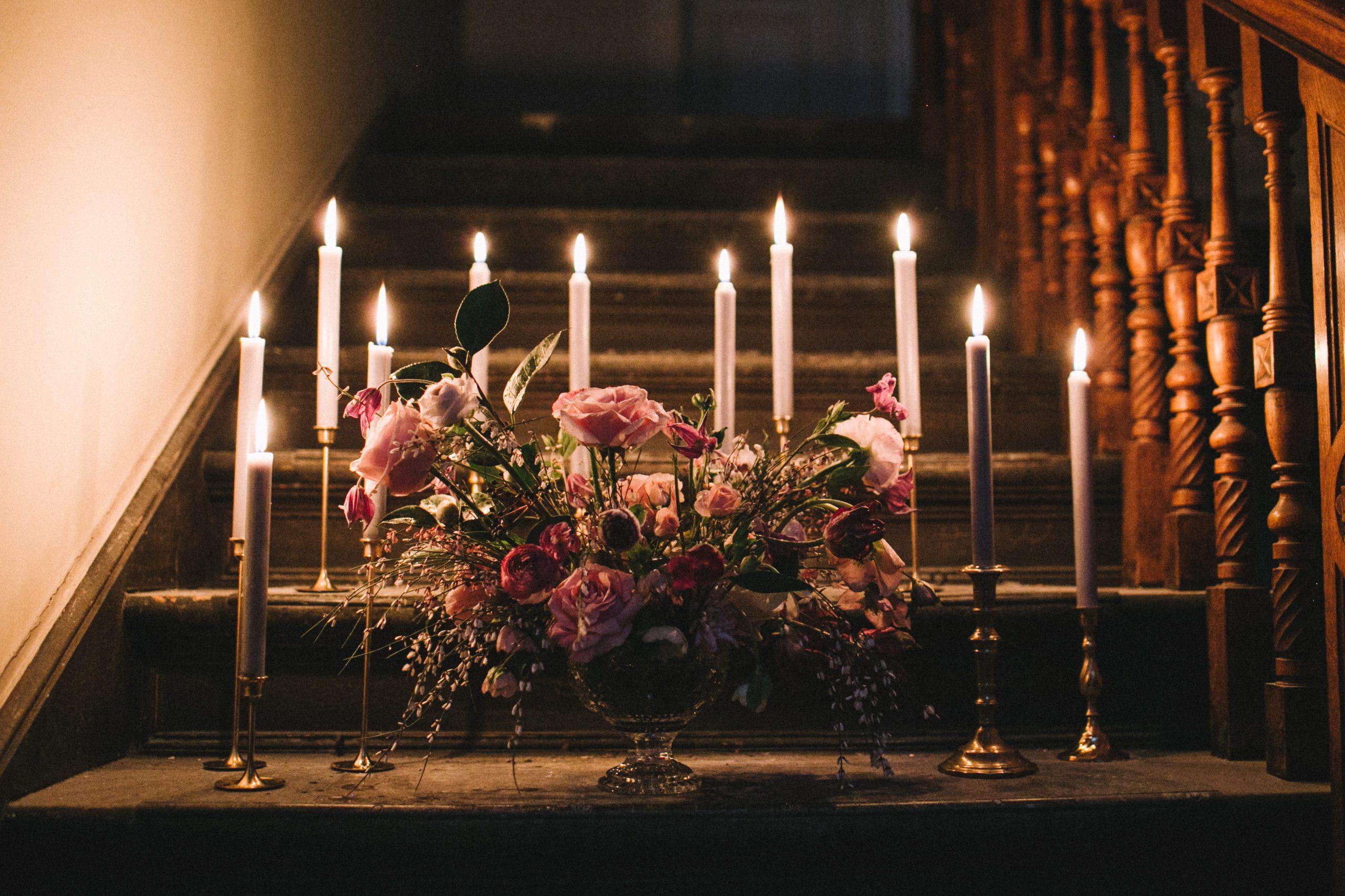 Messing Kerzenhalter Vase