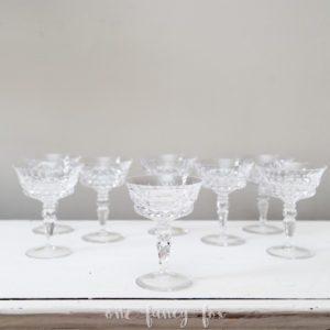 Vintage Sektschalen Kristall