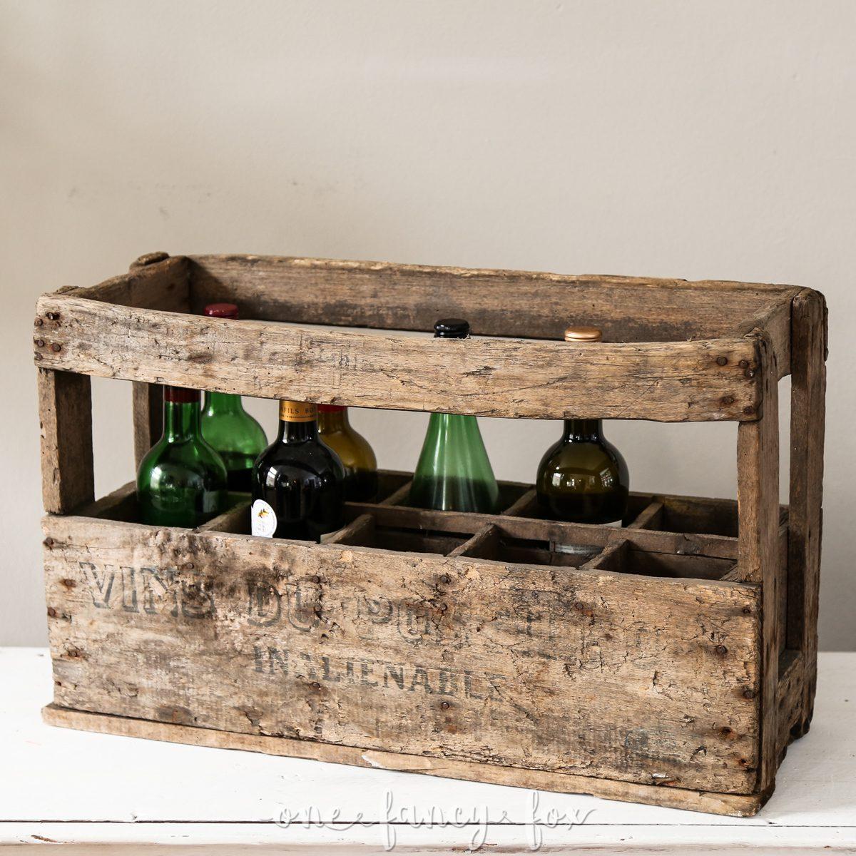 Weinkiste Antik Mieten bei One Facy Fox