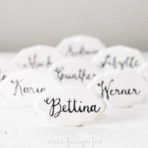 Namensschild mieten Hochzeit