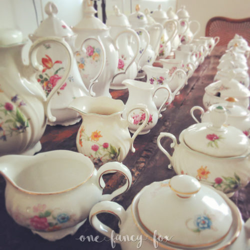 Porzellankanne Teekanne Kaffeekanne Vintage Porzellan mieten