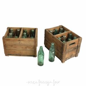 codd-neck flasche, Holzkiste Flaschenkiste