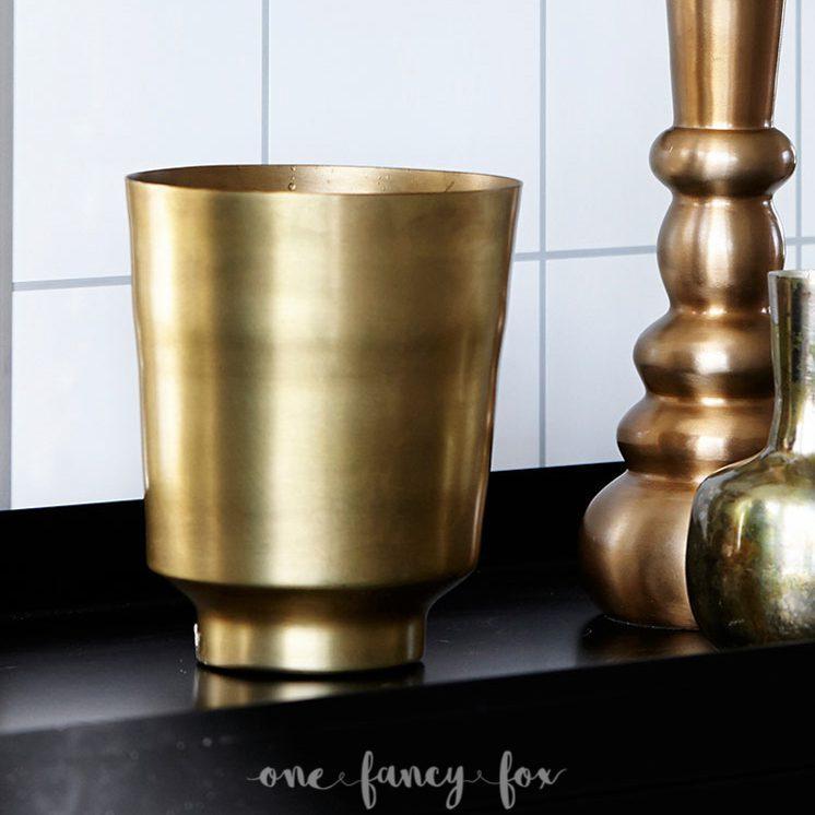 Messingtopf Vase Gold