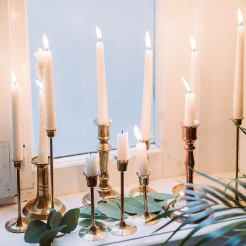 Messing Kerzenhalter Vintage Brass Candle Sticks