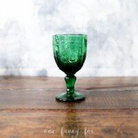 Weinkelch Grün Wasserglas mieten