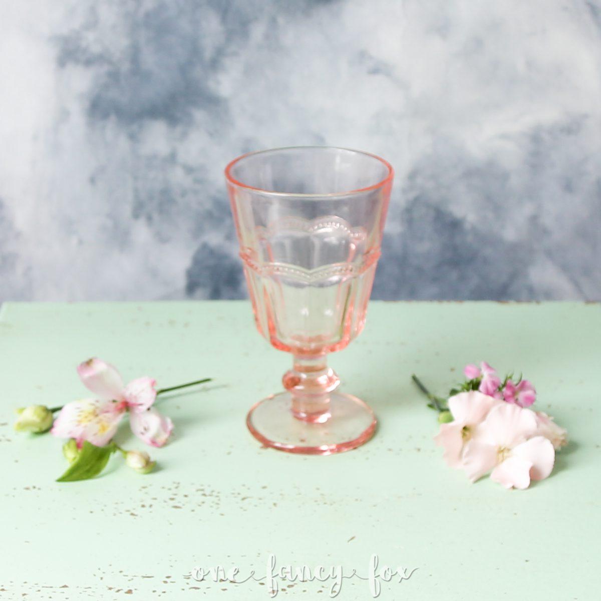 Wasserglas Rosa