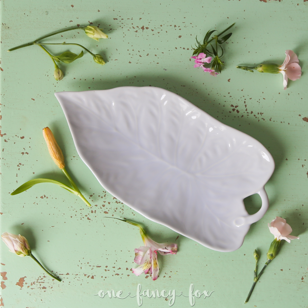 Dessertteller Leaf mieten Blattdesign
