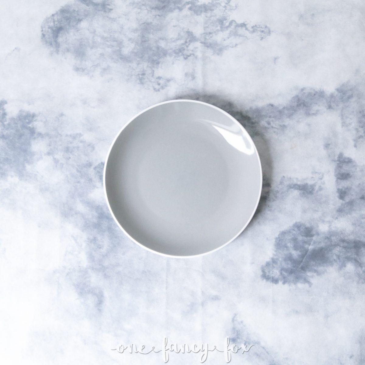 Grau Dessertteller mieten