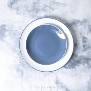 Teller Blau mieten mit Speiseteller