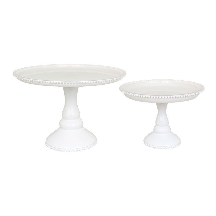 127211_127221 Tortenständer Weiß Glas