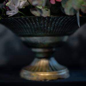 Schale Amelie MEssing Blumen Arrangement