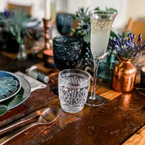Sektglas mit Gldrand mieten One Fancy Fox