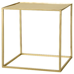 Coffee table Cube Beistelltisch Cube Gold