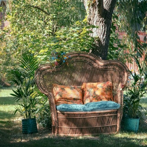 Peacock Sofa One Fncy Fox Verleih Boho