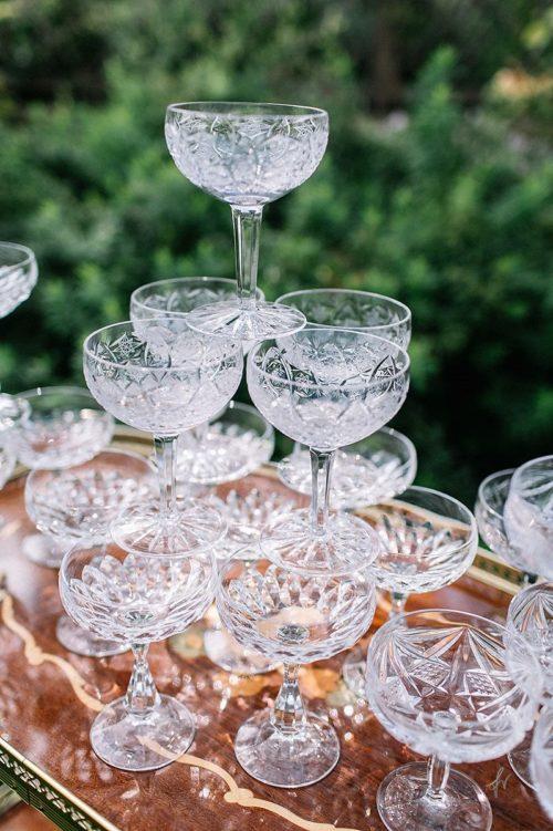 Sektschalen Champagnerschalen Bleikristall mieten One Fancy Fox