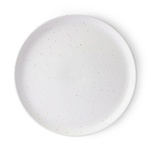 Dinnerteller Speiseteller Steingut matt Weiß One Fancy Fox
