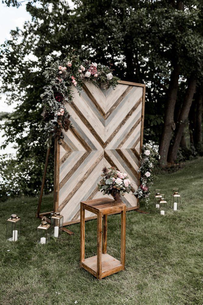 Backdrop Holz Hochzeit Wedding Backdrop