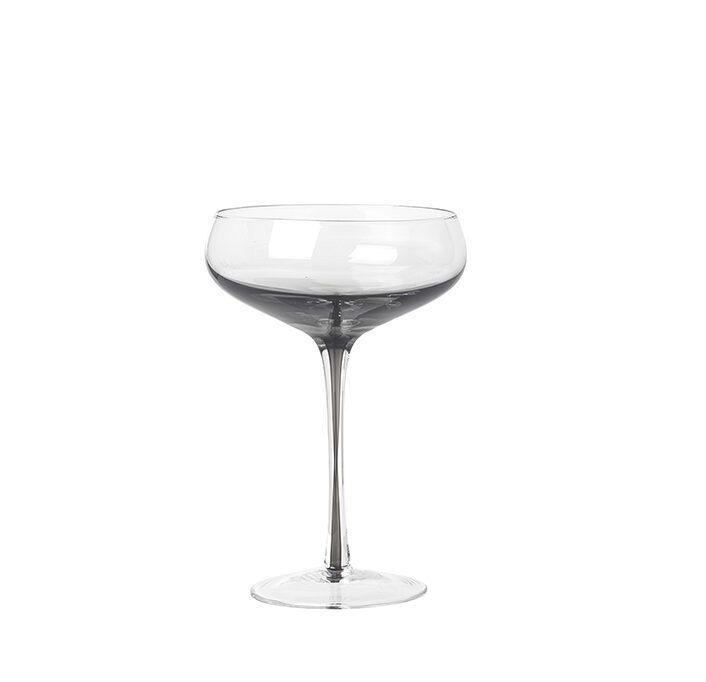 Champagnerschale Rauchglas Contemporary Design
